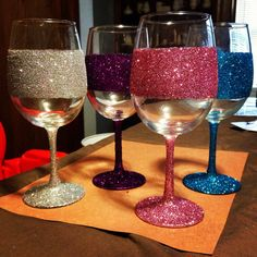 Glitter glasses on Etsy, $10.00