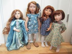 My redheaded dolls Girls Dresses, Flower Girl Dresses, Summer Dresses, Redheads, Dolls, Wedding Dresses, Collection, Fashion, Dresses Of Girls