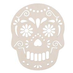 DIY+Sugar+Skull+Décor:+Laser+Cut+Unfinished+Wood+Skulls,+9.75+x+12+inches
