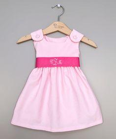 Another great find on #zulily! Pink & Hot Pink Sash Monogram Dress - Infant, Toddler & Girls #zulilyfinds
