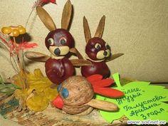 lapins à partir de marrons