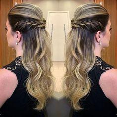 20 Hairstyle Ideas Loose Medium for trainees Simply Hairstyles, Bride Hairstyles For Long Hair, Braids For Long Hair, Long Hair Cuts, Down Hairstyles, Girl Hairstyles, Braided Hairstyles, Hairstyle Ideas, Cabello Hair