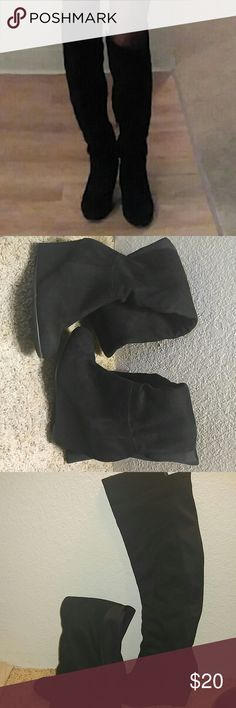 Chinese Laundry black boots Size 5.5 , beautiful black , knee long boots. Chinese Laundry Shoes Ankle Boots & Booties