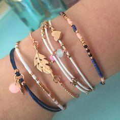 Dark Blue & White Bracelets | Mint15.com