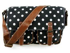 Little Wings Factory - Polka Dot Black Canvas Bag, £23.00
