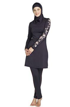 Muslim Swimsuit Islamic Full Modest Beachwear detachable headwear- 3 parts: hijab + top + pants