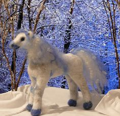 Needle Felted Animal /  Horse Crystal Fairy by GourmetFelted