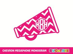 Cheerleader Monogram Cheer Chevron Megaphone SVG DXF by SVGTREE