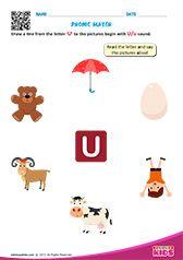 Phonic Match U Preschool Phonics, Learning Phonics, Toddler Learning Activities, Teaching Kindergarten, Preschool Worksheets, Fun Learning, Letter S Worksheets, Nursery Worksheets, Alphabet Worksheets