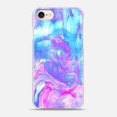 iPhone 7 Case Melting Marble in Pink & Turquoise