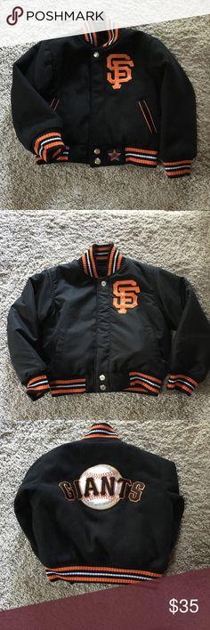Gently worn Giants varsity jacket Maybe worn 5 times at the most. Reversible Giants varsity jacket Jackets & Coats