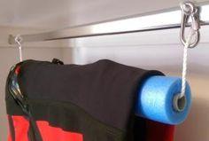 Close Up of Closet Hanger