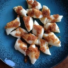 "These dumplings are called ""lazy pierogi"" in Polish, because they contain similar ingredients as pierogi, but require much less effort. Serve them as a dessert with melted butter and sugar or as a side dish with a savoury sauce. Dumpling Recipe, Dumplings, Quark Recipes, Quark Cheese, Bread Crumbs, Melted Butter, Food Photo, Allrecipes, Side Dishes"