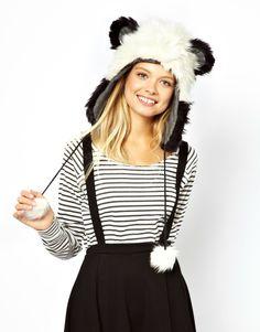 panda hood...ermine and mink, please