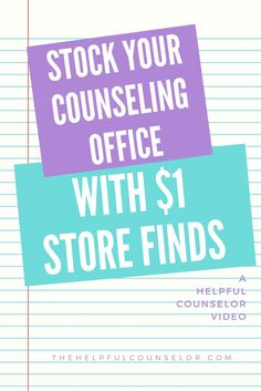 School Counseling Dollar Store Finds for your Counseling Office - Video
