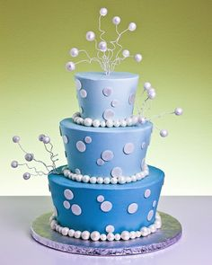 Bubbles in Blue Cake by Jacques Fine European Pastries