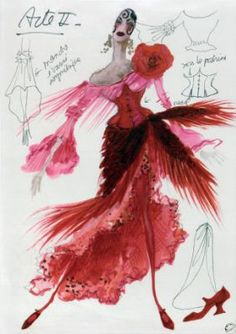 Carmen. Costume design by Christian Lacroix. 1989