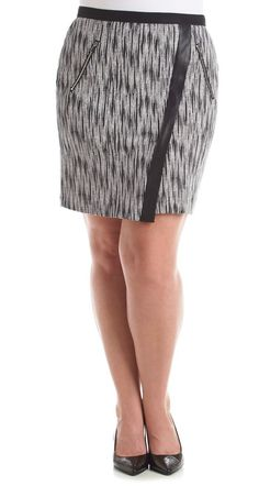 Pair with tights and a sweater for a super cute office look. | Rafaella skirt
