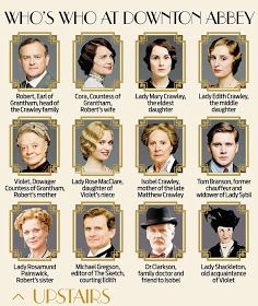 Who's who in Downton Abbey season 4.