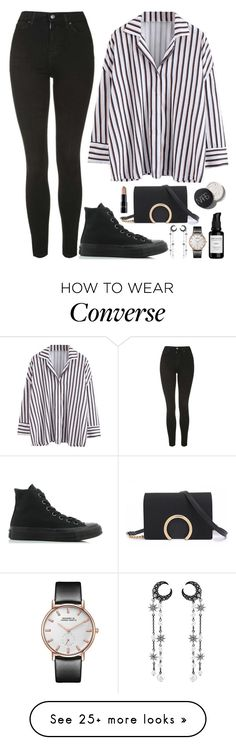 """Jeonghan X Pretty U MV"" by jleeoutfitters on Polyvore featuring Topshop, Converse and Root Science"
