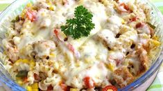 Chicken Recipes Simple, tasty and ready in only 15 minutes. Gratinated gyros noodles with h . New Chicken Recipes, Pasta Recipes, Cooking Recipes, Quick Recipes, Quick Easy Meals, Healthy Recipes, Girl Party Foods, Food Decoration, Diy Food
