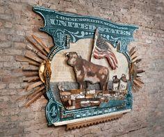 Artwork by Dolan Geiman installed at Dragon Ranch Moonshine and BBQ restaurant, Chicago, IL    dragonranch.com  Photo by David Ettinger