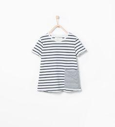 ZARA - NIÑOS - Camiseta algodón orgánico rayas