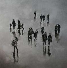"Artist: Louise Lawton, Title: ""Trafalgar Square, 2011 - click to close window"