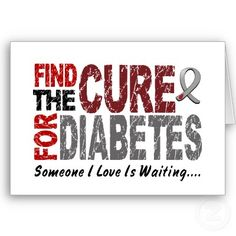 A cure for diabetes <3