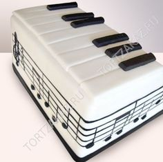 Music cake by mollie Piano Cakes, Music Cakes, Cute Cakes, Yummy Cakes, Bolo Musical, Foto Pastel, Cake Blog, Delicious Cake Recipes, Wedding Cake Decorations