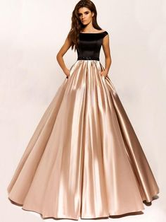 Champagne Ball Gown Simple Satin Full Length Prom Dress Charming Prom Party Gown, Shop plus-sized prom dresses for curvy figures and plus-size party dresses. Ball gowns for prom in plus sizes and short plus-sized prom dresses for Gold Prom Dresses, Indian Gowns Dresses, Prom Dresses For Sale, Indian Fashion Dresses, Modest Dresses, Stylish Dresses, Evening Dresses, Dance Dresses, Elegant Dresses