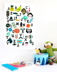 Alphabet poster from Weekday Carnival