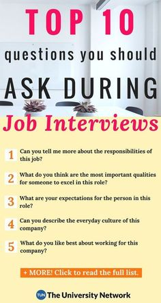 Here are the 10 best questions for you to ask during your next job interview!