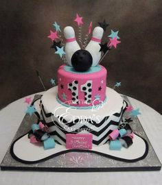 Bowling Birthday cake.                                                                                                                                                                                 More