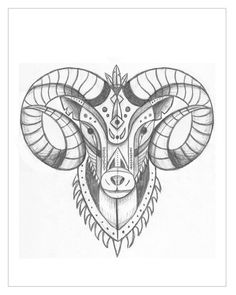 Aries - Illustration for Designers: Create Your Own Geometric Animal - Skillshare