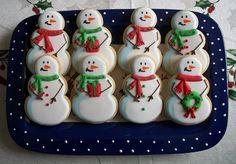 Snowman Cookies - by Brenda's Cakes Ohio