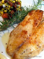 Tilapia with rosemary lime buerre blanc
