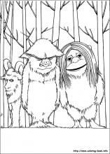 where the wild things are color pages