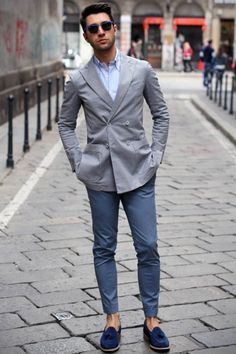 Business casual street look