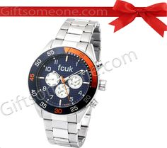 Rs.9,995.00 / $179.91 Shipping Charges Free Shipping To India(IND) Product Details  Brand: FCUK Model:  FC1115U Dial Color:  Black Dial Shape: Round Strap Color:  Silver Strap Material: Stainless steel Water Resistance: Yes Warranty: 2 Years International Warranty. http://www.giftsomeone.com/watch-men-fc-ft01/product_info.php/products_id/3543