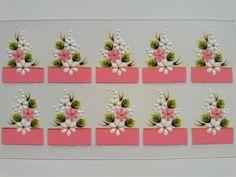 Francesinha Rosa com Margaridas Brancas e Rosa  Largura 1,5 centímetro