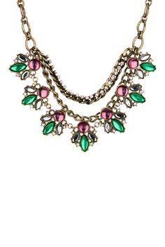 Free Press Jewelry | Embellished Stone Necklace