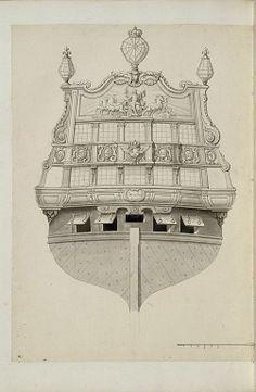 Jean Bérain (1640-1711) – Vaisseau: L'Apollon – Paris, Musée du Louvre