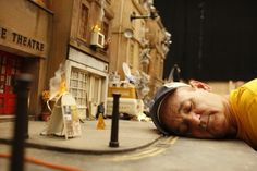 Bill Murray with the set of Fantastic Mr. Fox (2009)