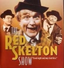 Red Skelton was a classic comedian that the whole family could enjoy on tv during the '50s and thru the early '70s.  His dvds are available online and sometimes offline as of 2013.
