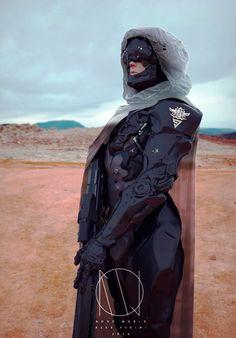 rhubarbes:  Desert - Stealth by Alex Figini. (via ArtStation - Desert - Stealth, Alex Figini)  More robots here.