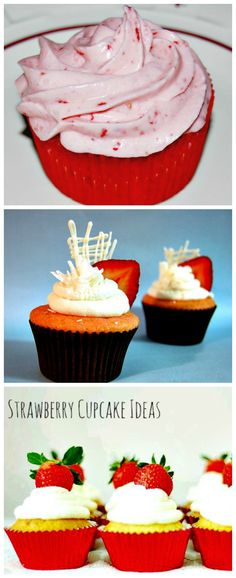These #strawberry #cupcake #ideas are sure to bring in a fruit twist to your party #desserts!