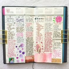 Week 7's pages. Some weeks I feel totally inspired, other weeks I struggle with what to do with my layout. Last week was one of the latter, I hope this week is easier! #journal #hobonichi #planner #diary #notebook #filofax #mtn #midori...