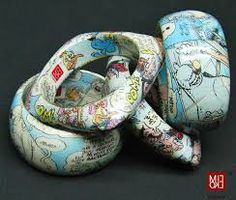 Gioielli fatti con materiali di riciclo - fumetti