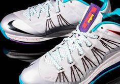 official photos 96dd8 b0a49 Nike LeBron X Low - Silver - Teal - SneakerNews.com